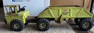 Tonka Lime Green Bottom Dump Truck 30'' Long Vintage 1970's