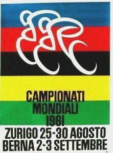 Original vintage poster CYCLE RACING W.C. SWITZERLAND 1961