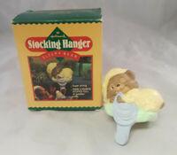 HallMark Stocking Hanger Sleepy Bear 1986 Christmas QSH813-3