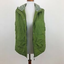 Carolyn Taylor Womens Large Vest Zip Up Jacket Green FLAWS