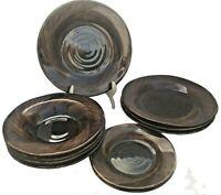 10pc Target Home Brand Stoneware Tortoiseshell Pasta Bowls Dinner & Salad Plates