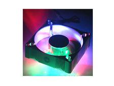 92mm x 92mm x 25mm 4 Color (B,G,R,O) LED Aluminum Fan