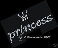 Hotfix Strass Bügelbild Motiv Princess m. Krönchen 120823  Karostonebox