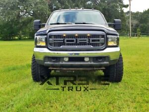 99-04 Raptor Style Grille For 99-04 Ford F250 F350 Super Duty Gray W/ Letters