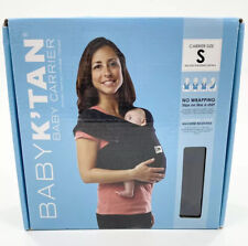 Baby K'tan Original Cotton Wrap style Baby Carrier Child Sling, Black, Small