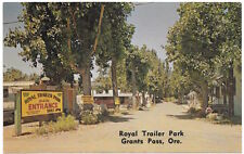 Postcard Main Entrance to the Royal Trailer Park in Grants Pass, Oregon~104921