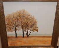 DECELL ORIGINAL OIL  ON CANVAS TREE LANDSCAPE PAINTING