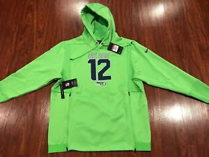Nike Men's Seattle Seahawks Sideline Local Lockup Hoodie Sweatshirt Large L NFL