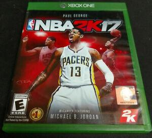 NBA 2K17 (MICROSOFT XBOX ONE) XB1 GAME COMPLETE BASKETBALL PAUL GEORGE JORDAN