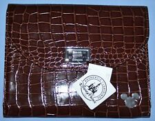 Disney BROWN IPAD CASE Faux Leather Mickey Icon NEW Croc Tablet Case Disney Park