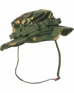DPM WOODLAND CAMO. ARMY  STYLE RIPSTOP WIDE BRIMMED BOONIE HAT SUN HAT BUSH HAT