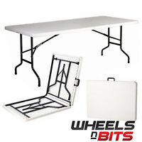 Heavy Duty 1.8m Folding Table 6ft Foot Catering Camping Trestle Market Party bbq