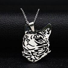 Halskette, Anhänger - Edelstahl. Katze Schmuck  für Männer oder Frau.