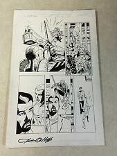 SPIDER-GIRL #34 original comic art SPIDER-MAN, THING, BIG BRAIN, PETER PARKER