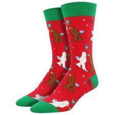Socksmith Men's Crew Socks Bigfoot Yeti Mythical Kissmas Holiday Footwear