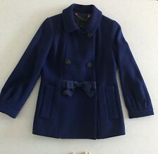 Women's Marc By Marc Jacobs Double Breasted Bow Coat XS Blue, Short *Dressy*
