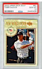 2002 Upper Deck Golf Tiger Woods PSA 10