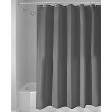 "Shower Curtain Mold and Mildew Free Waterproof Fabric Bathroom 72""x72"" Charcoal"
