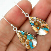Spiny Oyster Turquoise - Arizona 925 Sterling Silver Earrings Jewelry 5163