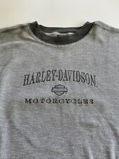 Vintage Harley Davidson Gray Waffle Knit T-Shirt Size 2XL New Castle PA Penna