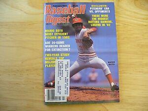 Baseball Digest Magazine - February 1983 (Mario Soto) - VINTAGE