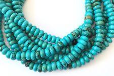 85 Fine Turquoise Rondelle Gemstone beads Stone-jewelry Supplies
