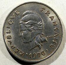 Nouvelle-Calédonie, 10 Francs, 1970, FRANCE  Nickel, KM:5  AL22