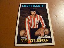 A & A.C. Chicle Fútbol Tarjeta 1972/73 Rojo Naranja Back Eddie Colquhoun Sheff Utd