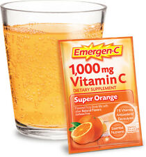 2 Emergen-C Vitamin C DAILY IMMUNE SUPPORT Super Orange 20 Pack