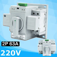 Dual Power Automatic Transfer Switch 2P 63A 220V 150×138×115mm Toggle Switch