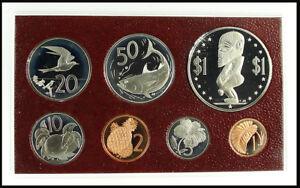 COOK ISLANDS 1975 Proof Set Mint Box/CoA/Papers