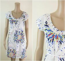ex White Stuff Dress - Geometric Print Lined Casual Tunic Dress