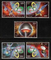 2004 ATHENS OLYMPIC GAMES SPACE SATELLITE 2001 MNH SET OF 5 STAMPS (NL334)
