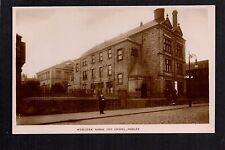 Morley near Leeds - Wesleyan School and Chapel - real photographic postcard