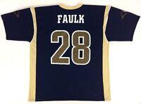 St. Louis Rams Marshall Faulk #28 Jersey 🏈 NFL Size 48 XL Vintage Logo Athletic