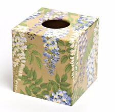Gold Wisteria Tissue Box Cover wood handmade ideal in living room