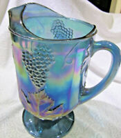 Carnival Glass Pitcher and 4 glasses
