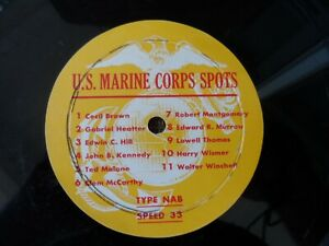 "12"" Transcription Radio Disc 1950's U.S. Marine Corps Radio Spots"