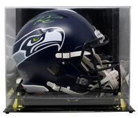 Russell Wilson Seahawks Signed Full Size Spd Auth Helmet w/Case BAS Wilson COA