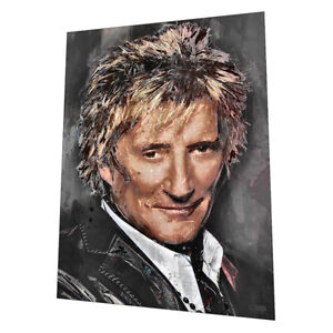 "The amazing ""Rod Stewart"" Wall Art - Graphic Art Poster"