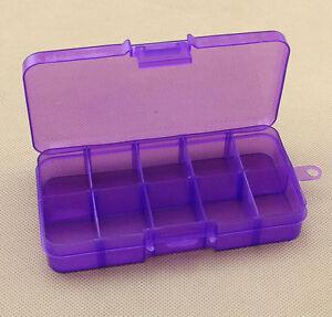 10 Slots Jewelry Storage Box Plastic Case Home Organizer Jewelry Beads Boxes