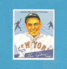 1934 Goudey Reprint #32 (John) Blondy Ryan Card - New York Giants