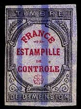 "1871-73 FRANCE REVENUE STAMP - ""ESTAMPILLE DE CONTROLE"" - USED - VF (ESP#9235)"