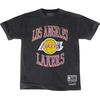 Los Angeles Lakers Mitchell & Ness NBA Vintage Crest Logo T-Shirt - Black