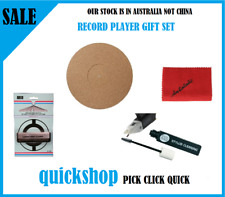 Turntable Record Player Mat, Cleaning Cloth, Stylus Needle Cleaner, & Brush