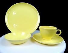"""TS & T TAYLOR SMITH TAYLOR VERSATILE PASTEL YELLOW 4 PIECE 9 1/4"""" PLACE SETTING"""