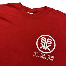 Rare Alicia Keys As I Am World Tour 2008 Local Crew Red T-Shirt Men's Xl Pop