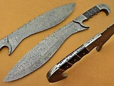 "Custom Handmade Damascus steel Hunting SWORD ""ranger WITH RAM HORN HANDLE"