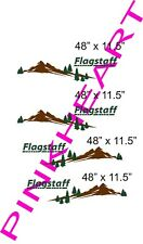 4 Flagstaff mountain scene RV sticker decal graphics trailer camper USA kit