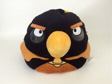 "Angry Birds Black Rovio Entertainment Bird Pillow Huge 16"" Plush Stuffed Animal"